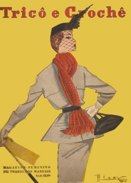 capa revista croche 1950 rest
